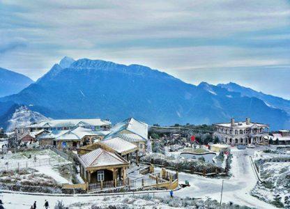 Khung cảnh tuyết tuyệt đời tại đỉnh Mẫu Sơn