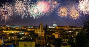 Khoảnh khắc đón năm mới ở Rome.