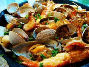 Những món hải sản vô cùng hấp dẫn.
