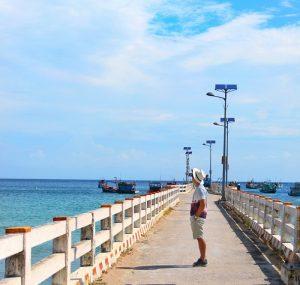 Check in cầu cảng tại Bãi Bấc.