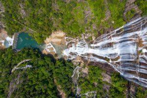 Cảnh quan thiên nhiên ở núi Thiên Thai Trung Quốc vô cùng tráng lệ.